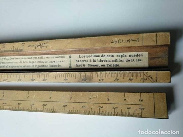 Antigüedades: REGLA DE CALCULO DE MADERA CON ESCALAS SOBRE PAPEL - DE PRINCIPIOS DEL PASADO SIGLO CALCULADORA - Foto 141 - 194327392