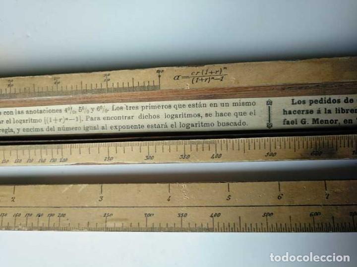 Antigüedades: REGLA DE CALCULO DE MADERA CON ESCALAS SOBRE PAPEL - DE PRINCIPIOS DEL PASADO SIGLO CALCULADORA - Foto 142 - 194327392
