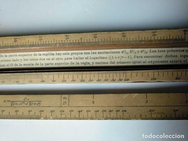 Antigüedades: REGLA DE CALCULO DE MADERA CON ESCALAS SOBRE PAPEL - DE PRINCIPIOS DEL PASADO SIGLO CALCULADORA - Foto 143 - 194327392