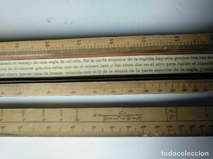 Antigüedades: REGLA DE CALCULO DE MADERA CON ESCALAS SOBRE PAPEL - DE PRINCIPIOS DEL PASADO SIGLO CALCULADORA - Foto 144 - 194327392