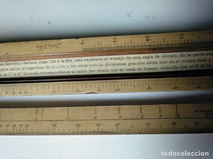 Antigüedades: REGLA DE CALCULO DE MADERA CON ESCALAS SOBRE PAPEL - DE PRINCIPIOS DEL PASADO SIGLO CALCULADORA - Foto 145 - 194327392