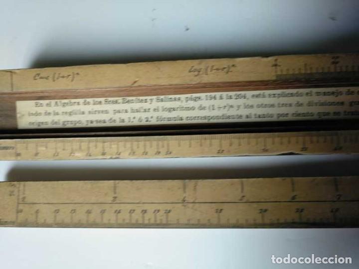 Antigüedades: REGLA DE CALCULO DE MADERA CON ESCALAS SOBRE PAPEL - DE PRINCIPIOS DEL PASADO SIGLO CALCULADORA - Foto 146 - 194327392