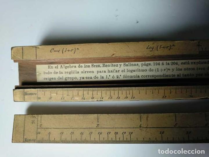 Antigüedades: REGLA DE CALCULO DE MADERA CON ESCALAS SOBRE PAPEL - DE PRINCIPIOS DEL PASADO SIGLO CALCULADORA - Foto 147 - 194327392