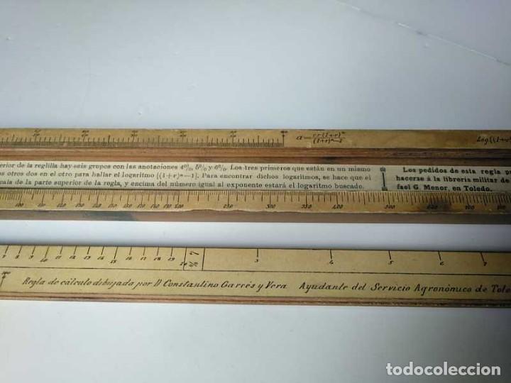 Antigüedades: REGLA DE CALCULO DE MADERA CON ESCALAS SOBRE PAPEL - DE PRINCIPIOS DEL PASADO SIGLO CALCULADORA - Foto 149 - 194327392