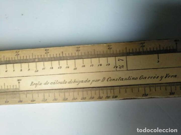 Antigüedades: REGLA DE CALCULO DE MADERA CON ESCALAS SOBRE PAPEL - DE PRINCIPIOS DEL PASADO SIGLO CALCULADORA - Foto 164 - 194327392
