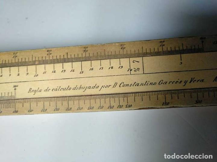 Antigüedades: REGLA DE CALCULO DE MADERA CON ESCALAS SOBRE PAPEL - DE PRINCIPIOS DEL PASADO SIGLO CALCULADORA - Foto 168 - 194327392