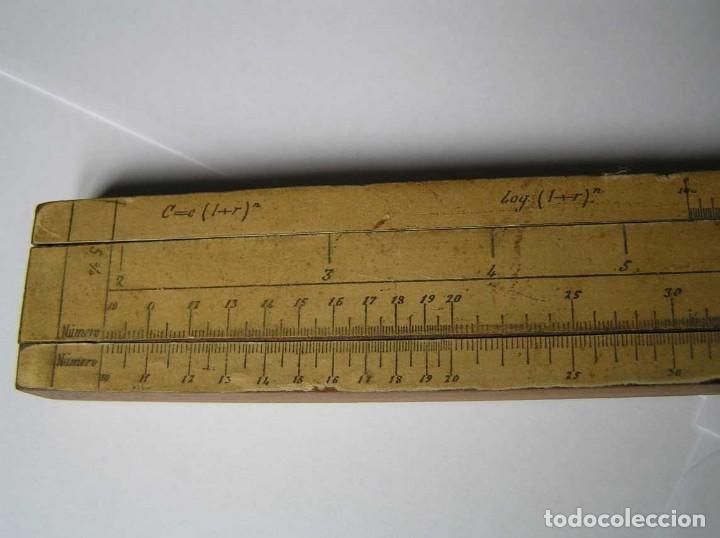 Antigüedades: REGLA DE CALCULO DE MADERA CON ESCALAS SOBRE PAPEL - DE PRINCIPIOS DEL PASADO SIGLO CALCULADORA - Foto 179 - 194327392