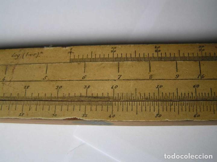 Antigüedades: REGLA DE CALCULO DE MADERA CON ESCALAS SOBRE PAPEL - DE PRINCIPIOS DEL PASADO SIGLO CALCULADORA - Foto 180 - 194327392