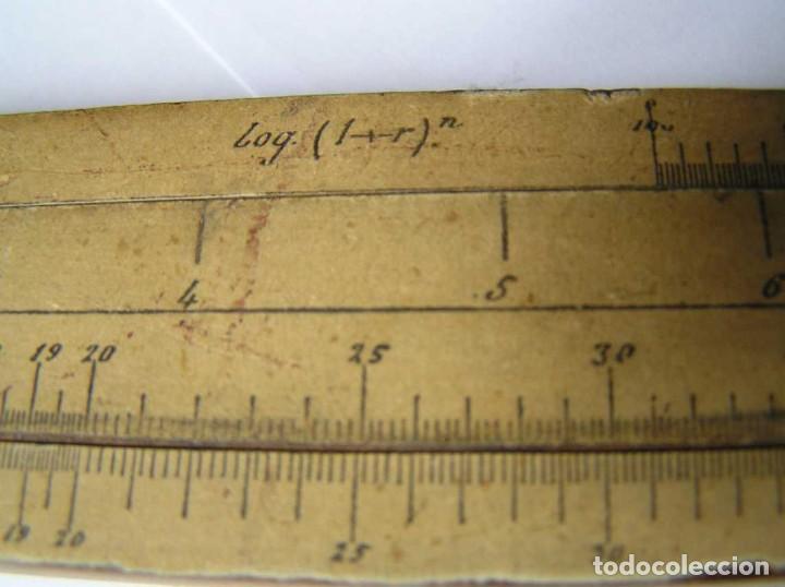 Antigüedades: REGLA DE CALCULO DE MADERA CON ESCALAS SOBRE PAPEL - DE PRINCIPIOS DEL PASADO SIGLO CALCULADORA - Foto 186 - 194327392