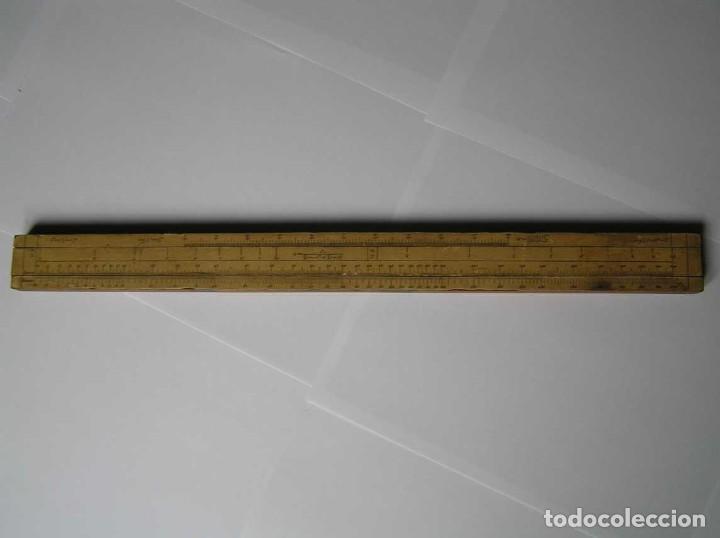 Antigüedades: REGLA DE CALCULO DE MADERA CON ESCALAS SOBRE PAPEL - DE PRINCIPIOS DEL PASADO SIGLO CALCULADORA - Foto 192 - 194327392