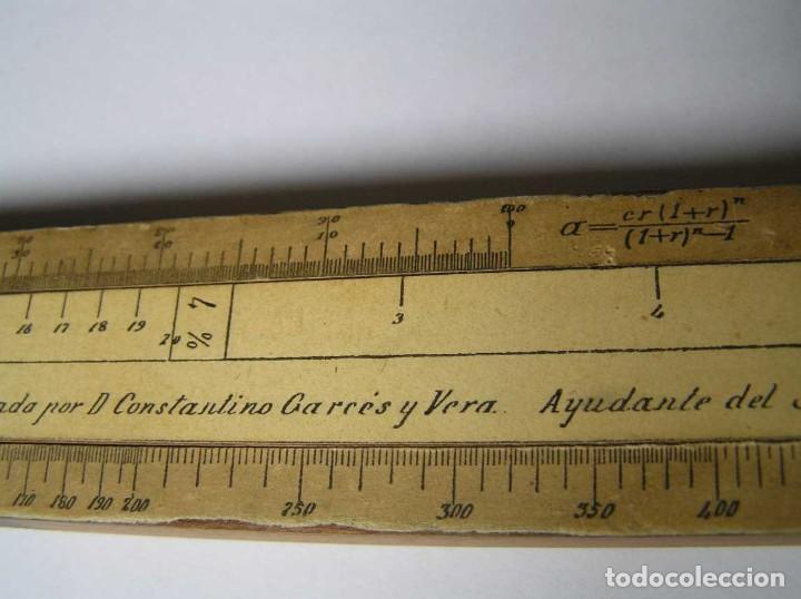 Antigüedades: REGLA DE CALCULO DE MADERA CON ESCALAS SOBRE PAPEL - DE PRINCIPIOS DEL PASADO SIGLO CALCULADORA - Foto 201 - 194327392