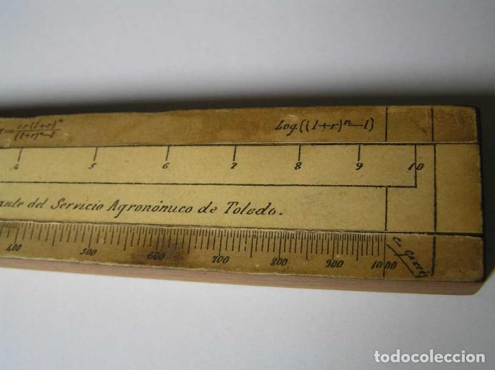 Antigüedades: REGLA DE CALCULO DE MADERA CON ESCALAS SOBRE PAPEL - DE PRINCIPIOS DEL PASADO SIGLO CALCULADORA - Foto 202 - 194327392
