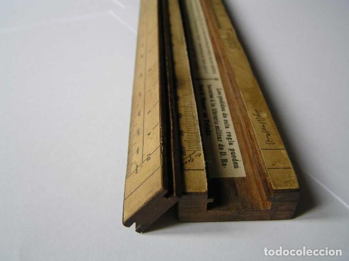 Antigüedades: REGLA DE CALCULO DE MADERA CON ESCALAS SOBRE PAPEL - DE PRINCIPIOS DEL PASADO SIGLO CALCULADORA - Foto 205 - 194327392