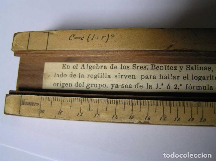 Antigüedades: REGLA DE CALCULO DE MADERA CON ESCALAS SOBRE PAPEL - DE PRINCIPIOS DEL PASADO SIGLO CALCULADORA - Foto 208 - 194327392