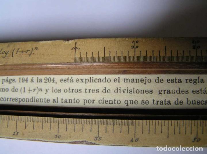 Antigüedades: REGLA DE CALCULO DE MADERA CON ESCALAS SOBRE PAPEL - DE PRINCIPIOS DEL PASADO SIGLO CALCULADORA - Foto 209 - 194327392