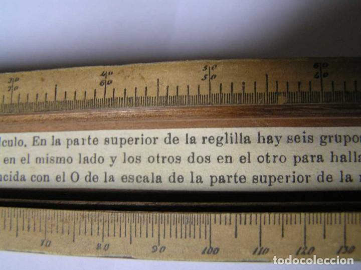 Antigüedades: REGLA DE CALCULO DE MADERA CON ESCALAS SOBRE PAPEL - DE PRINCIPIOS DEL PASADO SIGLO CALCULADORA - Foto 210 - 194327392