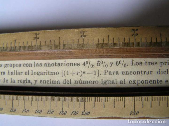 Antigüedades: REGLA DE CALCULO DE MADERA CON ESCALAS SOBRE PAPEL - DE PRINCIPIOS DEL PASADO SIGLO CALCULADORA - Foto 211 - 194327392