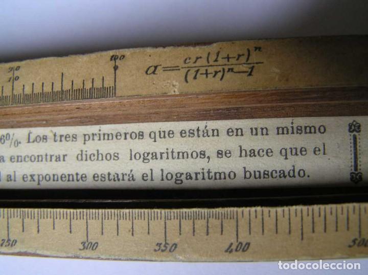 Antigüedades: REGLA DE CALCULO DE MADERA CON ESCALAS SOBRE PAPEL - DE PRINCIPIOS DEL PASADO SIGLO CALCULADORA - Foto 212 - 194327392