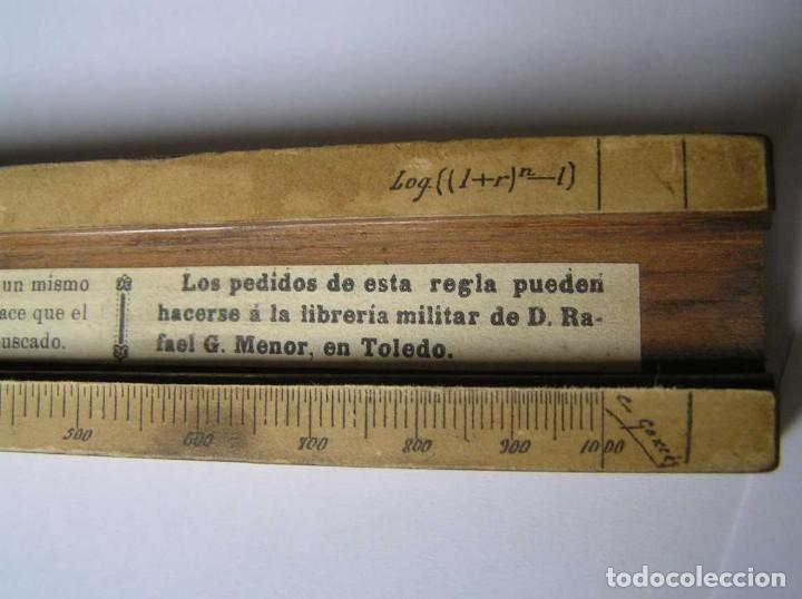 Antigüedades: REGLA DE CALCULO DE MADERA CON ESCALAS SOBRE PAPEL - DE PRINCIPIOS DEL PASADO SIGLO CALCULADORA - Foto 213 - 194327392