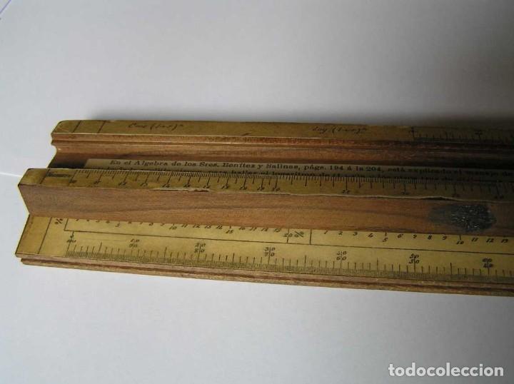 Antigüedades: REGLA DE CALCULO DE MADERA CON ESCALAS SOBRE PAPEL - DE PRINCIPIOS DEL PASADO SIGLO CALCULADORA - Foto 214 - 194327392