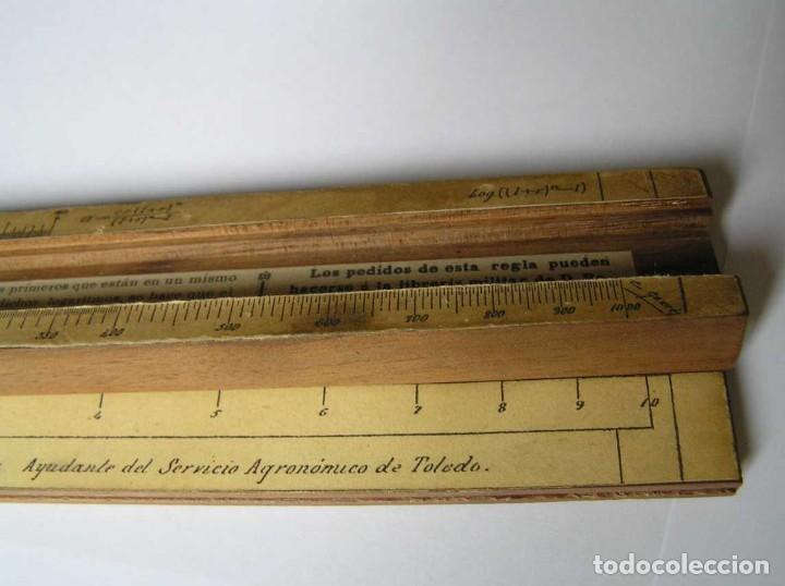 Antigüedades: REGLA DE CALCULO DE MADERA CON ESCALAS SOBRE PAPEL - DE PRINCIPIOS DEL PASADO SIGLO CALCULADORA - Foto 215 - 194327392