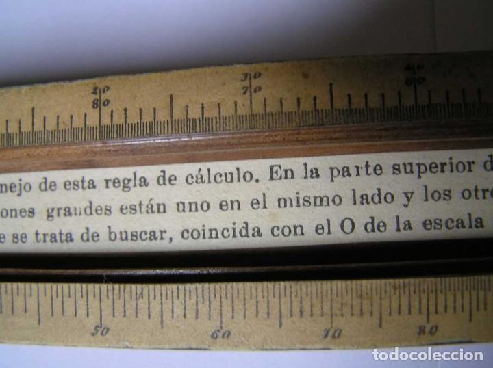 Antigüedades: REGLA DE CALCULO DE MADERA CON ESCALAS SOBRE PAPEL - DE PRINCIPIOS DEL PASADO SIGLO CALCULADORA - Foto 217 - 194327392