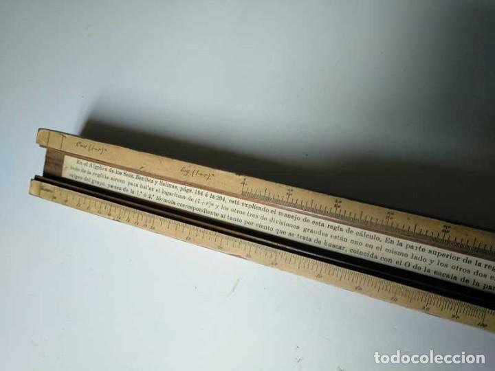 Antigüedades: REGLA DE CALCULO DE MADERA CON ESCALAS SOBRE PAPEL - DE PRINCIPIOS DEL PASADO SIGLO CALCULADORA - Foto 223 - 194327392