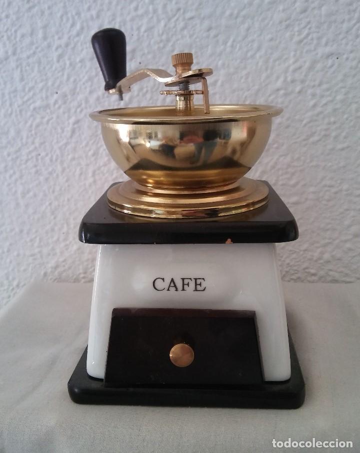 MOLINILLO DE CAFÉ CERÁMICA Y MADERA (Antigüedades - Técnicas - Molinillos de Café Antiguos)