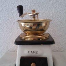 Antigüedades: MOLINILLO DE CAFÉ CERÁMICA Y MADERA. Lote 194338733