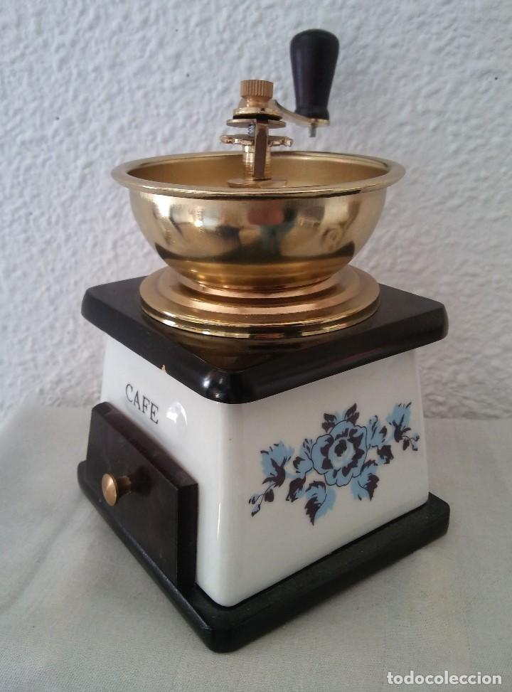 Antigüedades: Molinillo de Café cerámica y madera - Foto 2 - 194338733