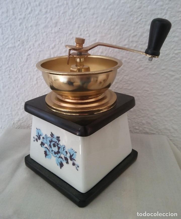 Antigüedades: Molinillo de Café cerámica y madera - Foto 3 - 194338733