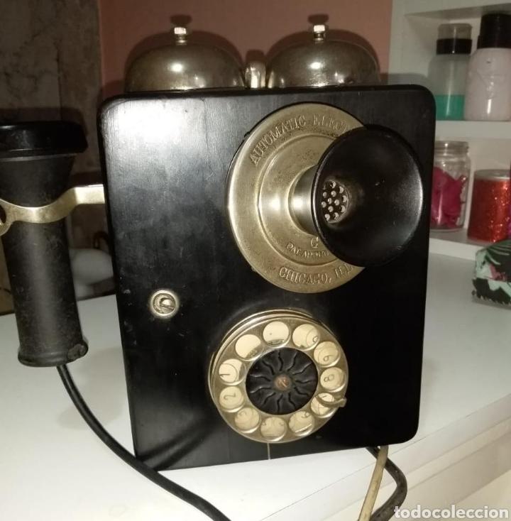 TELÉFONO BOCINA AUTOMÁTICO COMPANY CHICAGO ILL (Antigüedades - Técnicas - Teléfonos Antiguos)