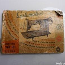 Antigüedades: MANUAL DE INSTRUCCIONES ALFAMATIC MODELO 103. Lote 194354398