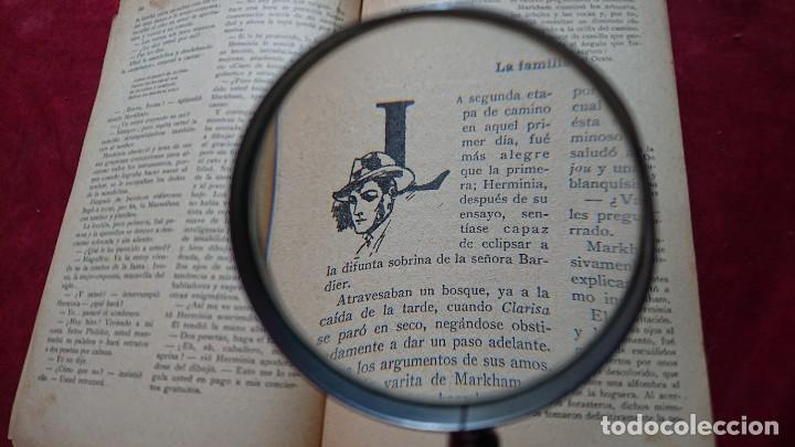 Antigüedades: LUPA CON MANGO DE MADERA ESFERA CRISTAL 7 CM DIAMETRO - Foto 6 - 194372630