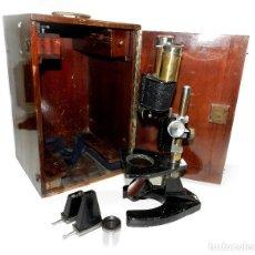 Antigüedades: ANTIGUO MICROSCOPIO BINOCULAR NACHET PARIS.. Lote 194386782
