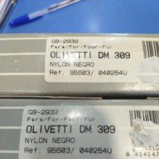 Antigüedades: 2 CINTAS NYLON OLIVETI DM 309. Lote 194389161