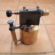 Antigüedades: SOPLETE DE PARAFINA DE BRONCE. Lote 194403991