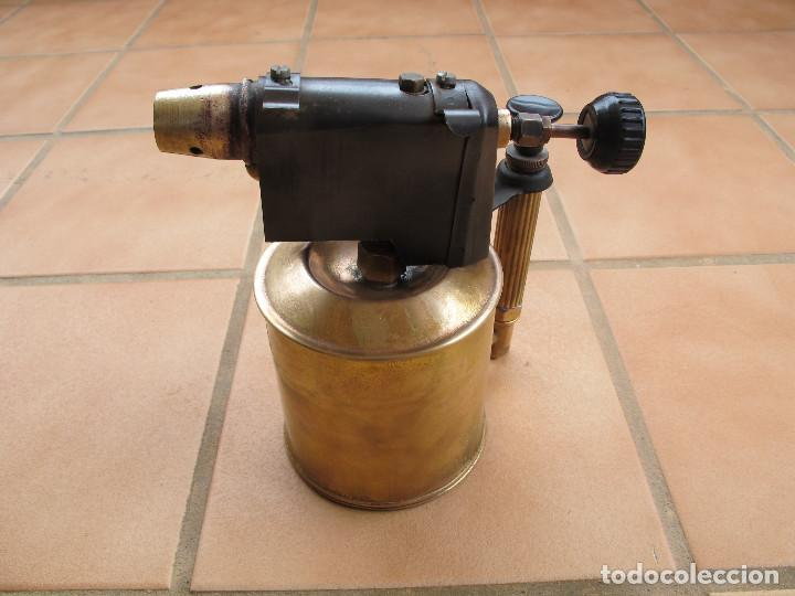Antigüedades: Soplete Soldador de Parafina de Bronce - Foto 2 - 194403991
