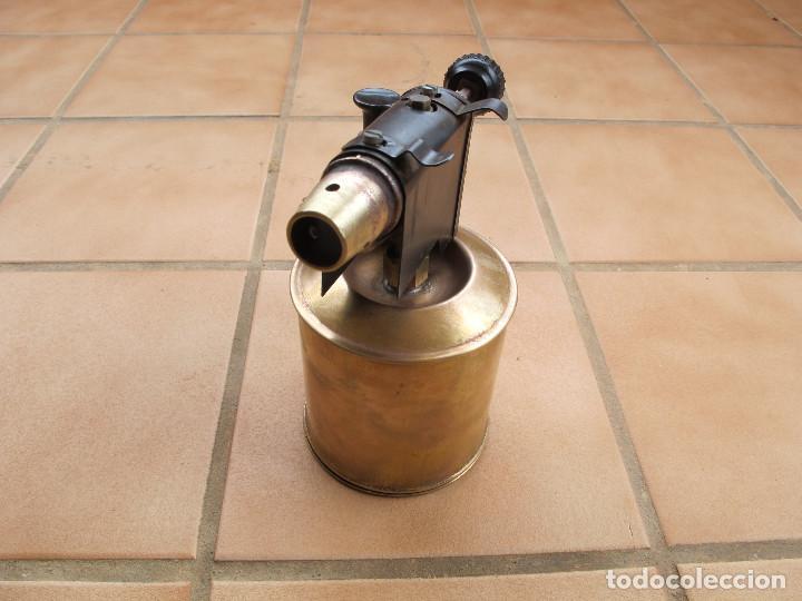 Antigüedades: Soplete Soldador de Parafina de Bronce - Foto 3 - 194403991