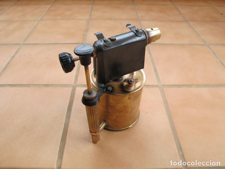 Antigüedades: Soplete Soldador de Parafina de Bronce - Foto 4 - 194403991