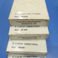 Antigüedades: 20 ROLLOS DE CORRECTOR PARA MAQUINA ESCRIBIR ELÉCTRICA GR.149 OLIVETTI ET. Lote 194493171