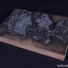 Antigüedades: ZINCOGRABADO, CLICHE PARA IMPRESION. BABEL. Lote 194494366