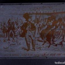 Antigüedades: ZINCOGRABADO, CLICHE PARA IMPRESION. BAILE DE MÁSCARAS EN EL LICEO. Lote 194494541