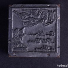 Antigüedades: ZINCOGRABADO, CLICHE PARA IMPRESION. EX LIBRIS MARÍA DEL CARMEN DE LAISECA. Lote 194495206