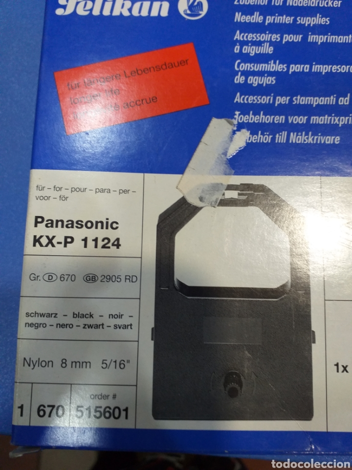 9 CINTAS PANASONIC PARA TPV GR.670 (Antigüedades - Técnicas - Máquinas de Escribir Antiguas - Otras)