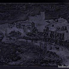 Antigüedades: ZINCOGRABADO, CLICHE PARA IMPRESION. LA BISBAL. Lote 194496005