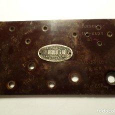 Antigüedades: PLACA DE BAQUELITA TRANSFORMADOR DREVILHE. Lote 194511127