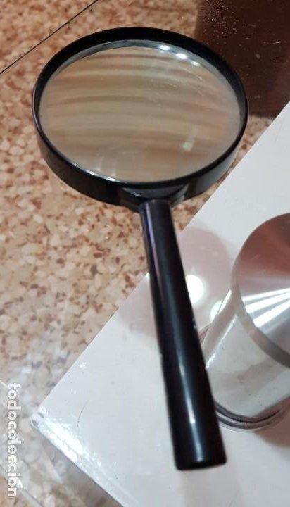 LUPA CLÁSICA VINTAGE NEGRA (Antigüedades - Técnicas - Instrumentos Ópticos - Lupas Antiguas)