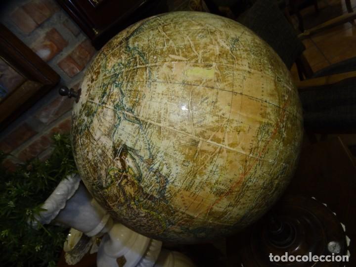 Antigüedades: GLOBO TERRÁQUEO CON BRÚJULA. MANG. PRINCIPIOS DEL SIGLO XX. ALEMANIA - Foto 9 - 194522772