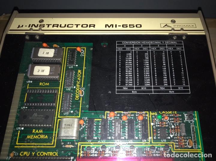 Antigüedades: ENTRENADOR PROMAX INSTRUCTOR ELECTRÓNICO MI-650. ELECTRÓNICA MICROPROCESADOR - Foto 2 - 194539966